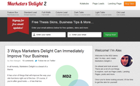 Marketers Delight Thesis Skin