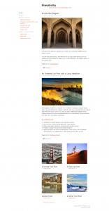 Skórka na bloga Simplicity