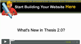 How to build a website with Thesis 2.0