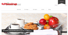 E-commerce website Biosirup.cz