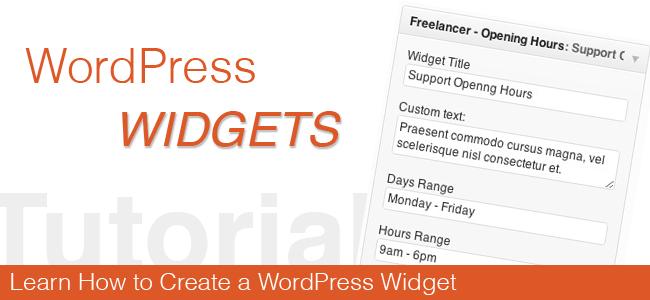 Creating Custom Wordpress Widgets