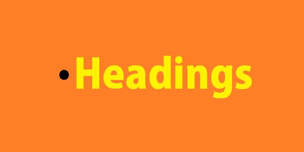 Blogging tips: headings